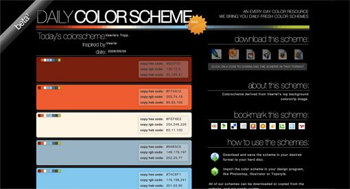 25 awesome tools for choosing a website color scheme for Web page color palette