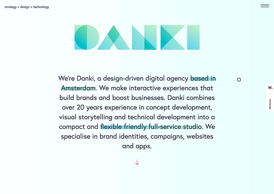 danki Design Trend: Mono Gradients design tips  Trends|color|Inspiration|trends|web design