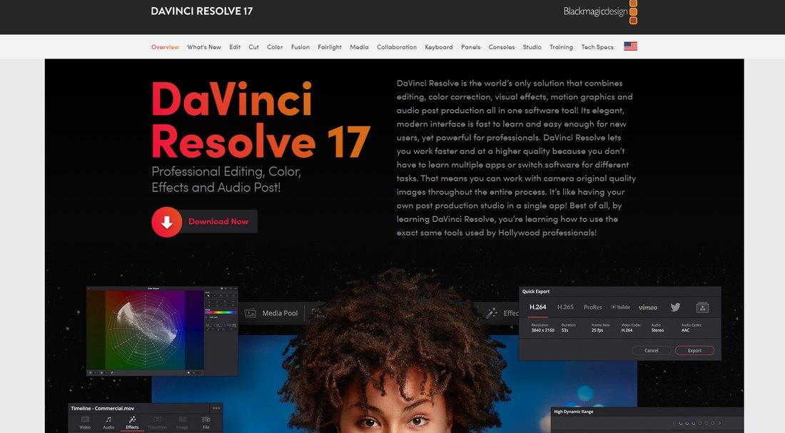 davinci-resolve- 5 Best iMovie Alternatives (For Mac & Windows) 2021 design tips