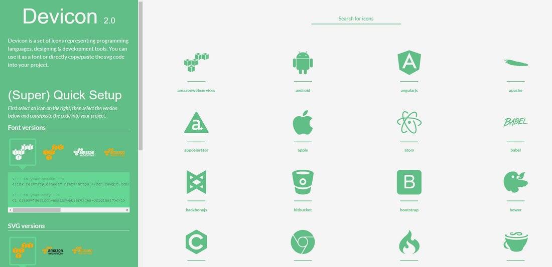devicon-icon-font