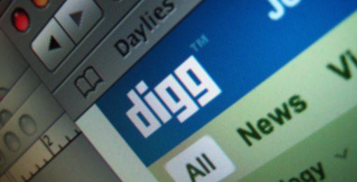 Digg.com Screenshot from a Mac OS X