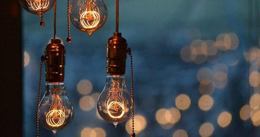 Photograph of dim light bulbs