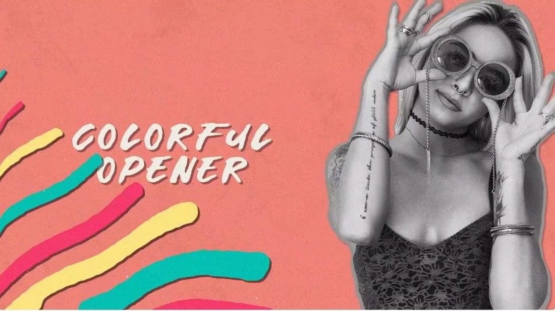 draw colorful - premiere pro intro template