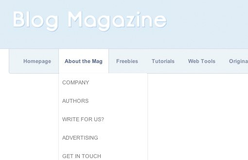 Sexy Magazine Dropdown Screenshot