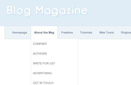 Sexy Magazine Dropdown Screenshot