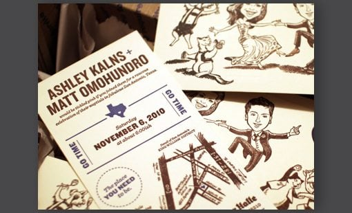 our letterpress wedding invitations by matt omohundro screenshot