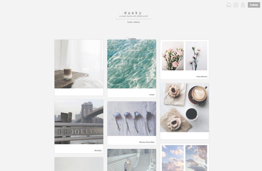 dusky-tumblr-theme 50+ Best Free & Premium Tumblr Themes 2018 design tips