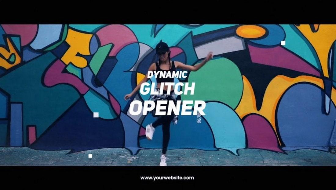 dynamic glitch - premiere pro intro template