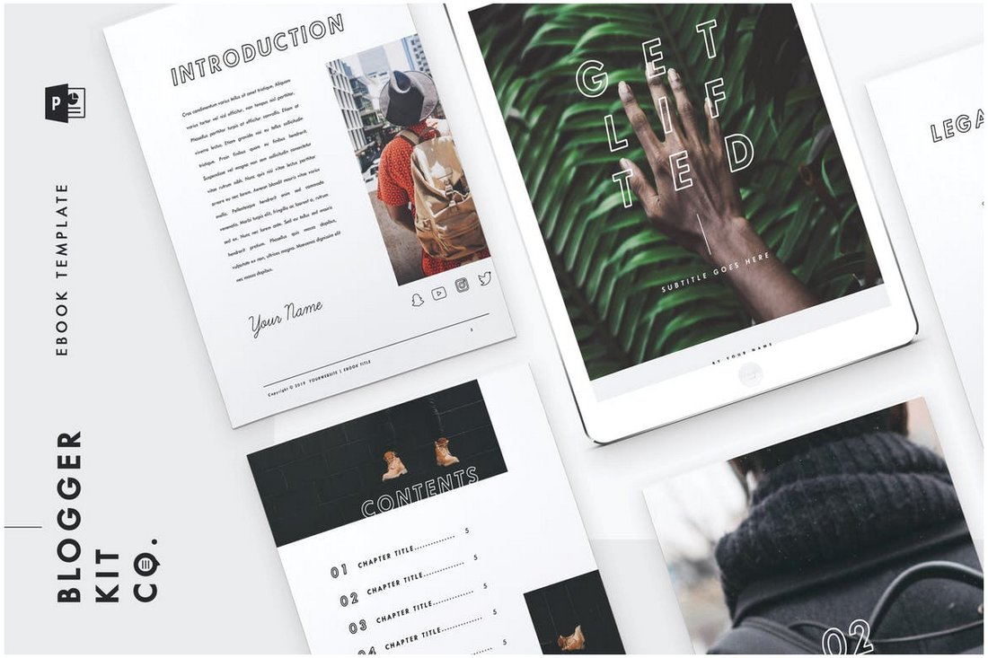 eBook Template - PowerPoint eBook & Flyer Template