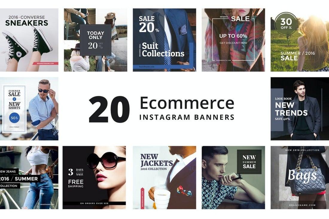 eCommerce Instagram Promo Banner Templates