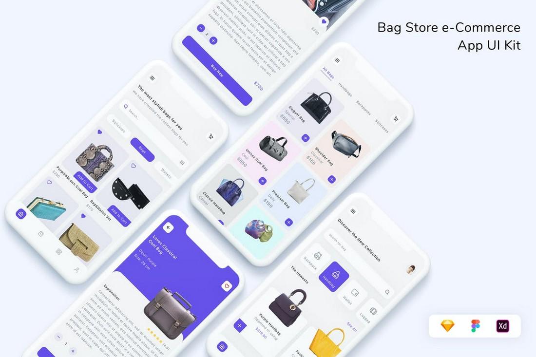 eCommerce Online Store App UI Kit for Sketch