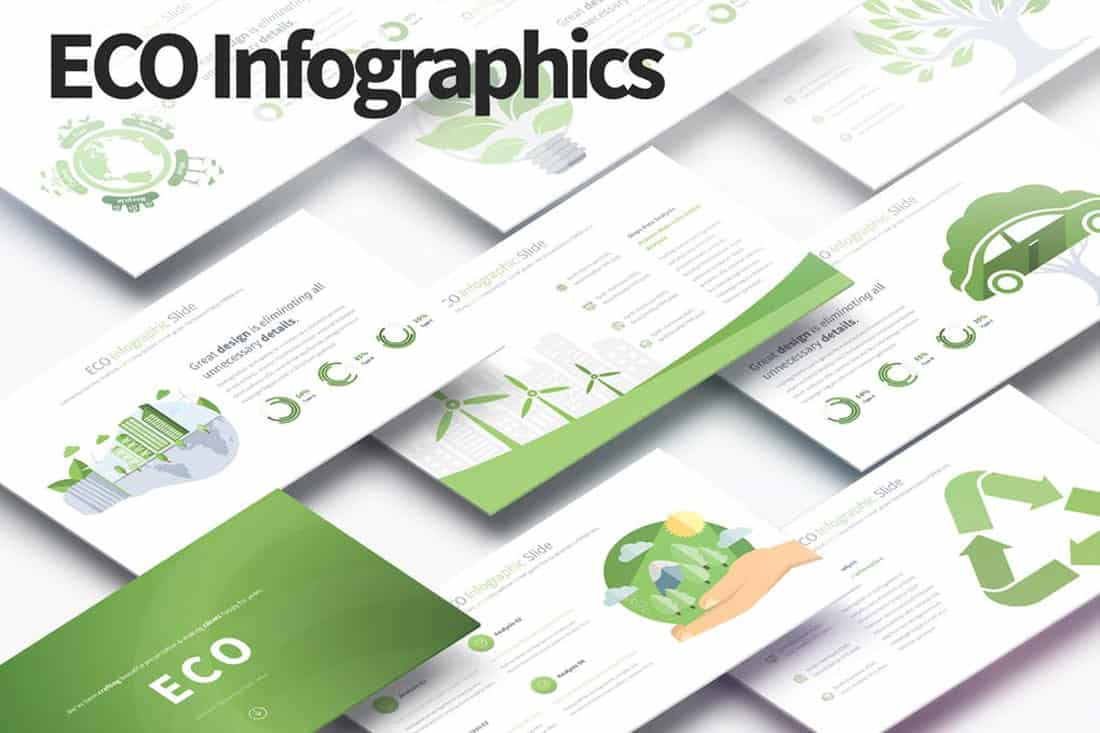 eco 20 Stylish PowerPoint Color Schemes design tips