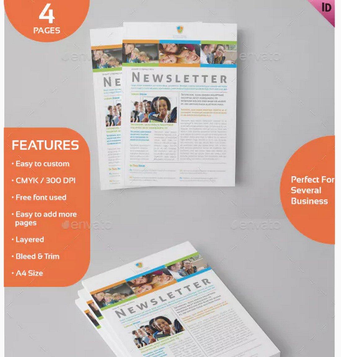 educational-School-Newsletter-Template 20+ School Newsletter Templates design tips