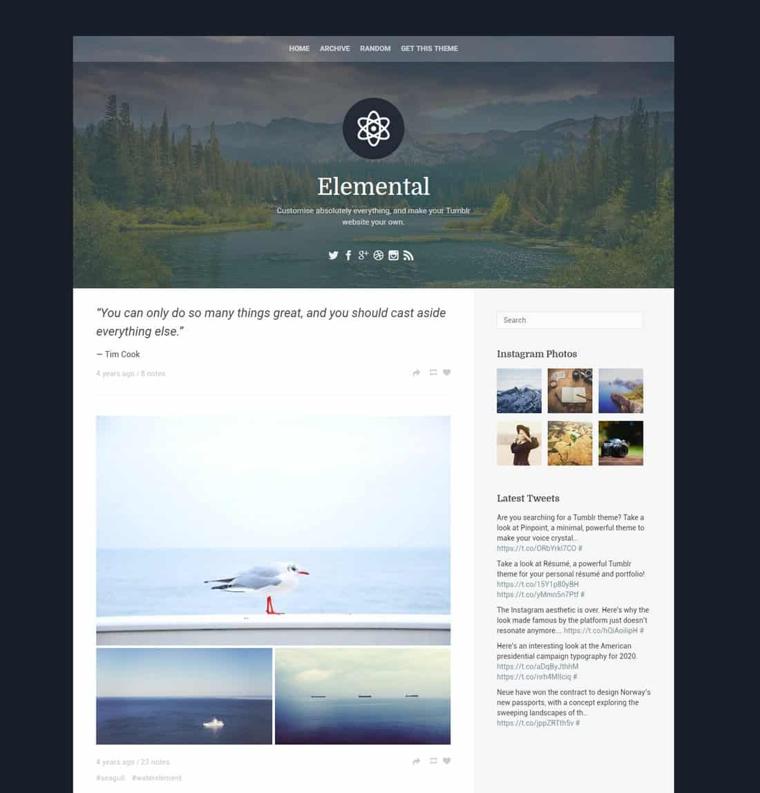 elemental-free-tumblr-theme