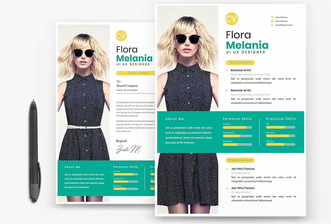 20 Stylish Resume Color Schemes Design Shack