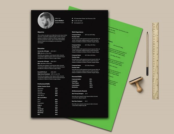 f7528422367877.56311aaa4257d 50+ Best CV & Resume Templates 2020 design tips