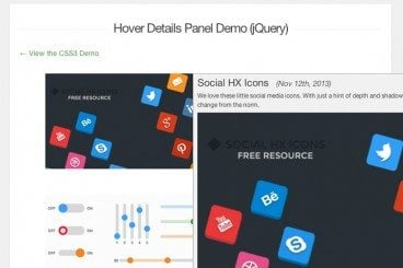 Building a Hover Detail Panel With CSS3 & jQuery