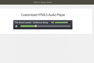 Creating a Custom HTML5 Audio Element UI