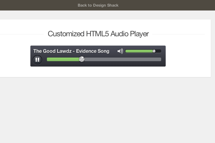 Creating a Custom HTML5 Audio Element UI | Design Shack