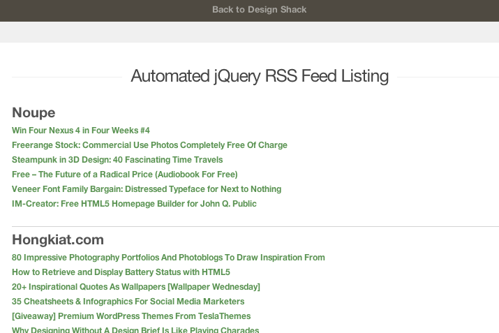 preview tutorial rss feed reader jquery google api