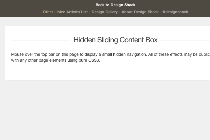 css3 transition sliding box tutorial preview