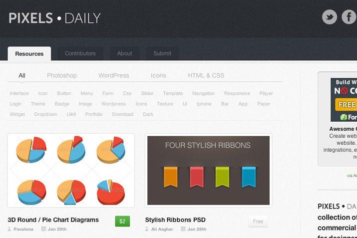 30 Brand New Creative VIP PSD & CSS Design Resources
