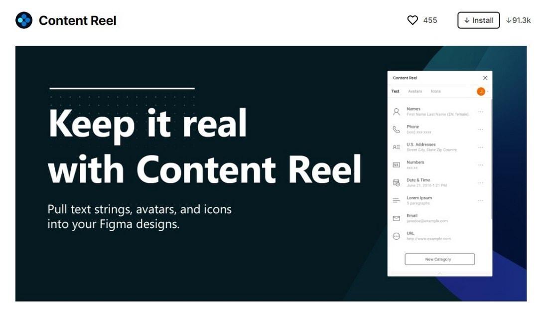 figma plugin - content reel