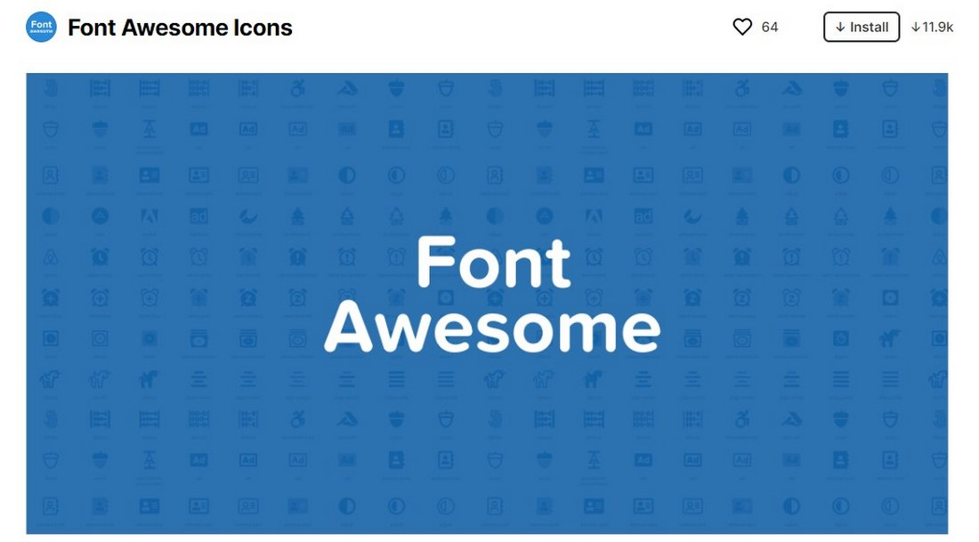 figma plugin - font awesome