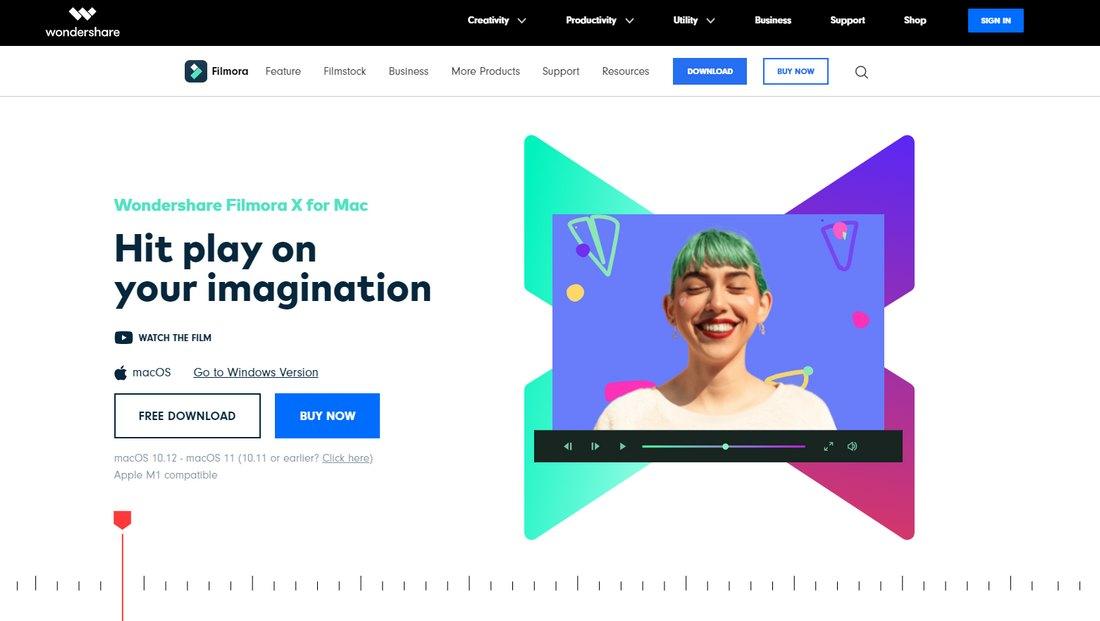 filmora-x- 5 Best iMovie Alternatives (For Mac & Windows) 2021 design tips