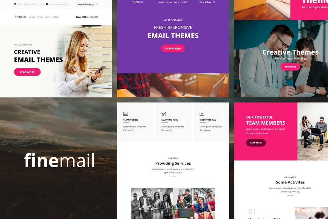 finemail-60-Modules-E-mail-Templates 40+ Modern Responsive Email Templates 2021 design tips