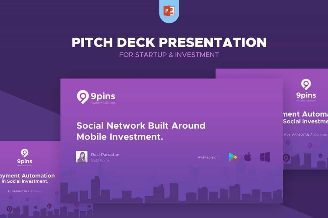 fintech-Startup-Pitch-Deck-Template-For-PowerPoint 30+ Best Startup Pitch Deck Templates for PowerPoint 2020 design tips  Inspiration|pitch deck|powerpoint