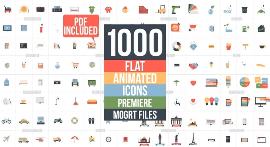 flat animated icons-adobe-premiere-pro-template