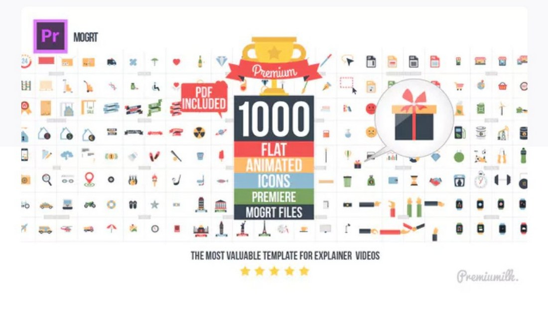 flat-animated-icons-premiere-pro-template 30+ Best Premiere Pro Templates 2019 design tips