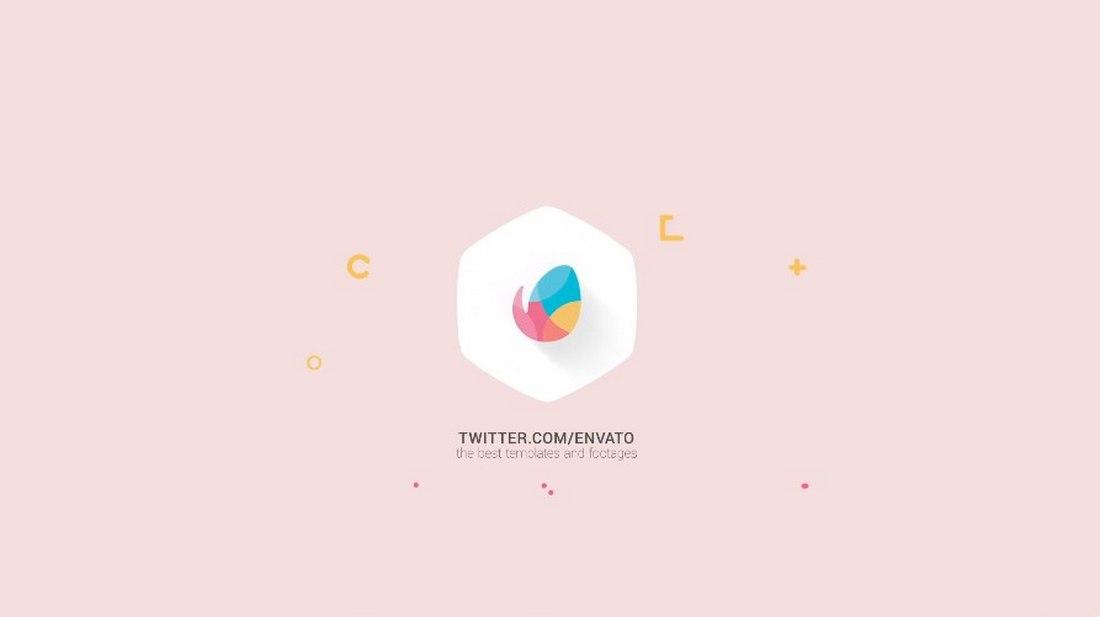 flat logo - premiere pro intro template