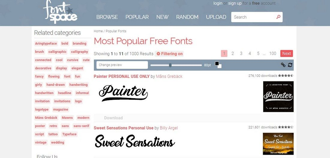 fontspace 10+ Best Places to Find Free Fonts design tips  Inspiration|Typography|fonts|free