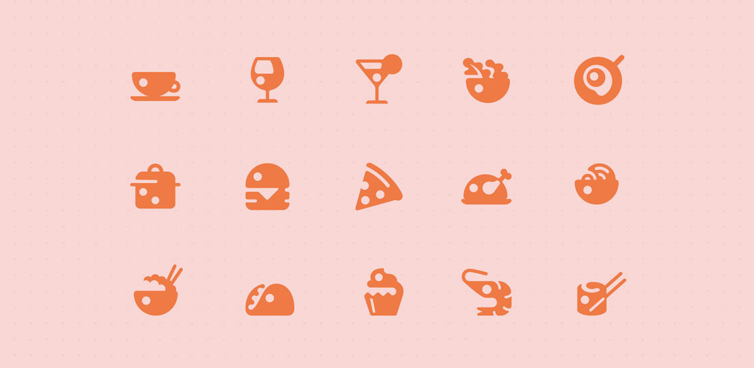 food-icons Icon Design in 2019: The Key Trends design tips