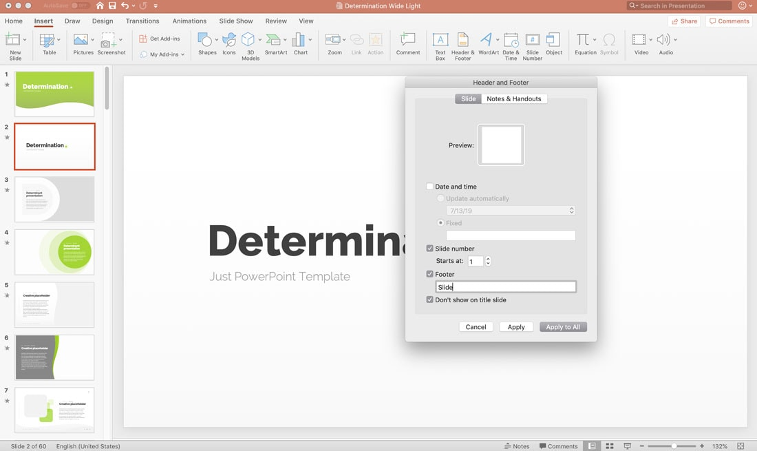 how to add slide numbers powerpoint