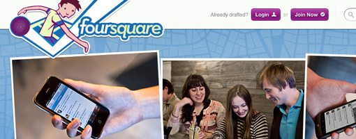 Foursquare alternate web design
