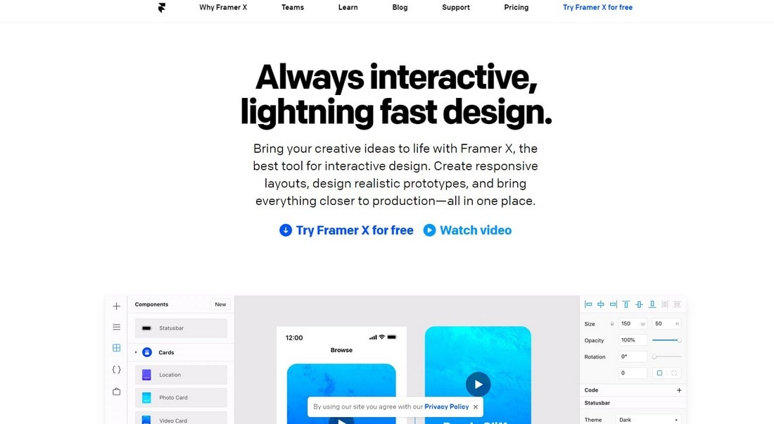 framer-1 10 Best Prototyping Tools for Designers 2020 design tips  Software