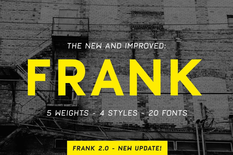 frank bold font