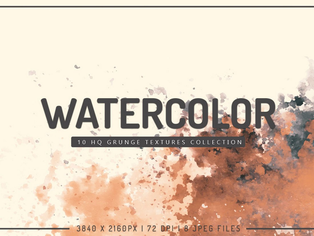free Grunge Watercolor Textures Pack