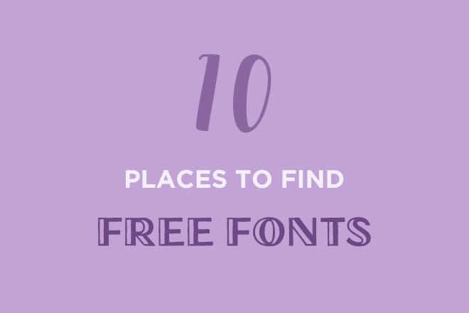 10 best places to find free fonts