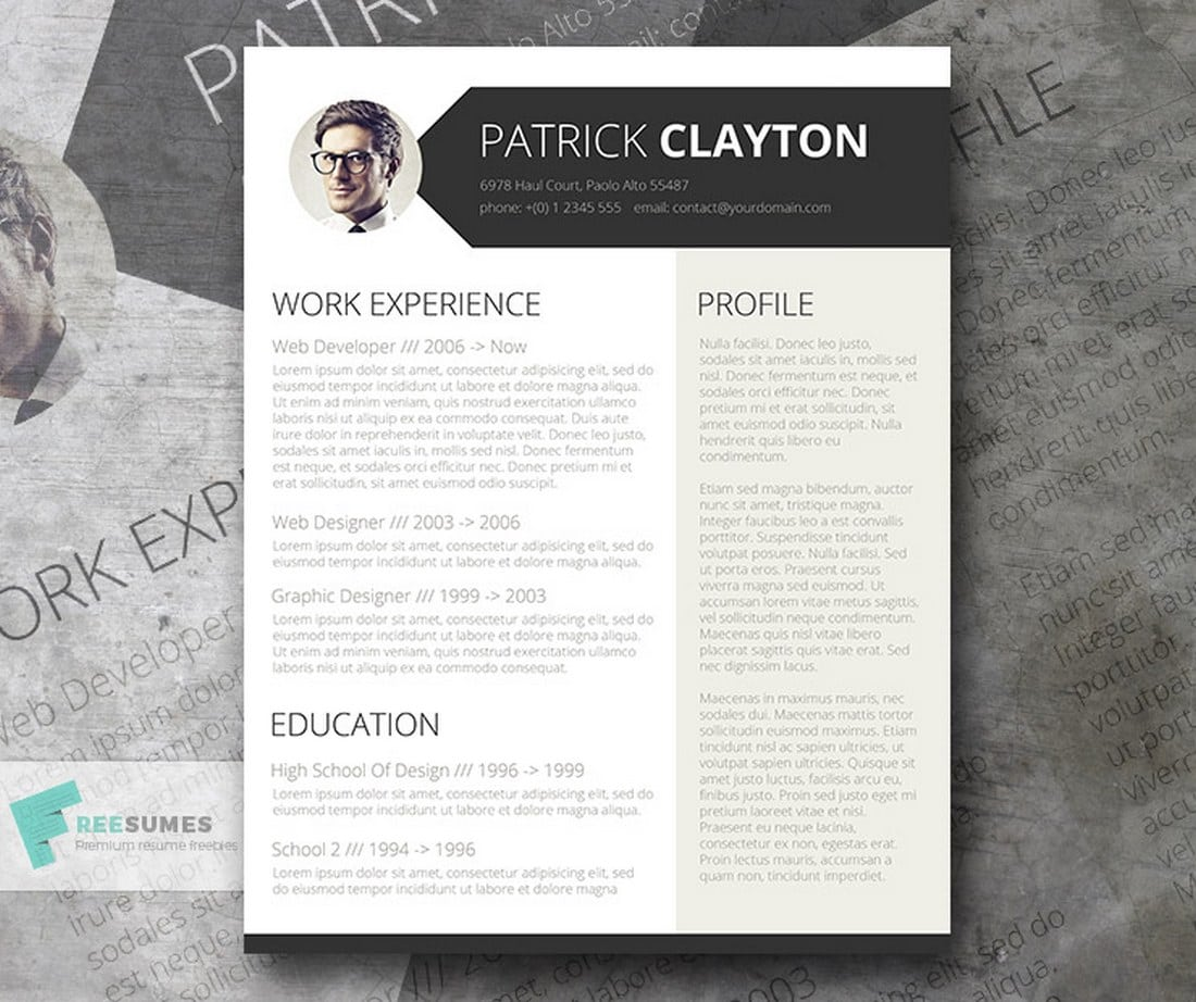 free-professional-resume Freesumes: Free Resumes, Beautifully Designed design tips