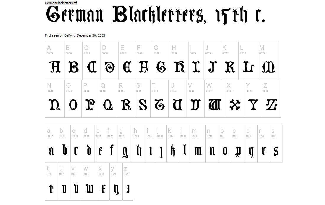 Mimicking The Design Of 15th Century German Letters This Free Font Will Help You Craft Many Different Types Designs From Logos Signage Posters