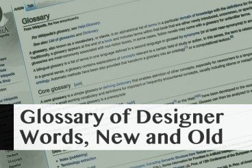 Glossary of Design Jargon – New & Old (Part 1)