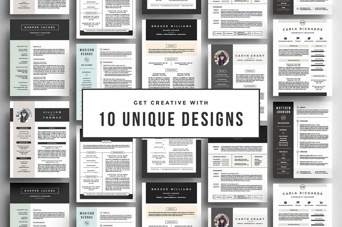 go-big-or-go-home 50+ Best CV & Resume Templates 2020 design tips