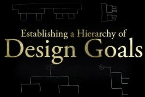 Establishing a Hierarchy of Goals for Everything You Design