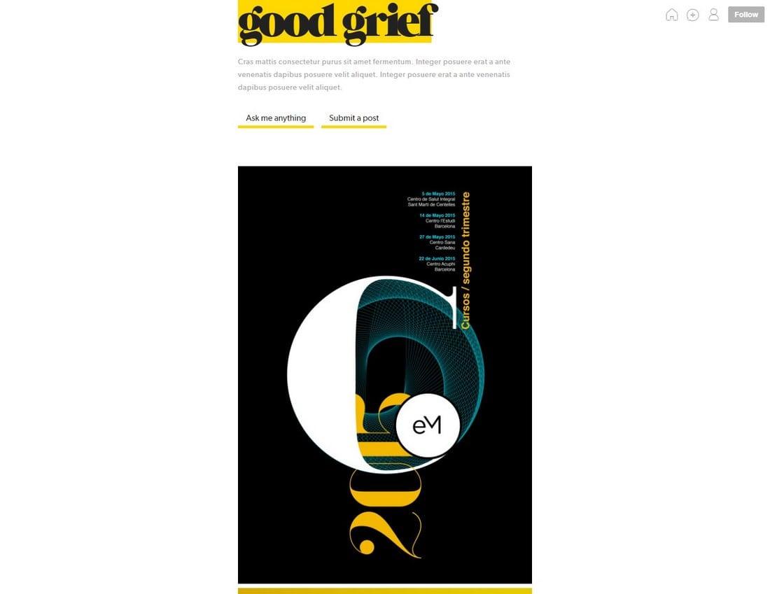 goodgrief-tumblr-theme 50+ Best Free & Premium Tumblr Themes 2018 design tips