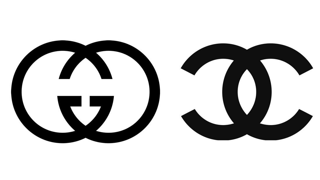 gucci chanel logos