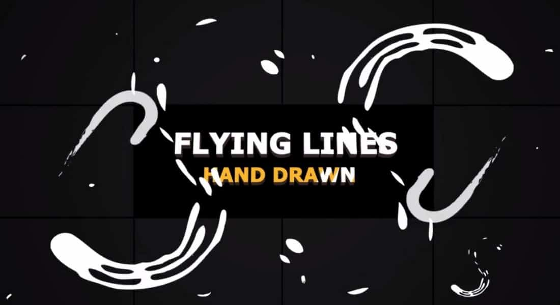 hand drawn flying lines -adobe-premiere-pro-template